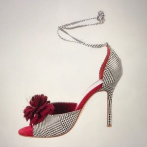 Dolce and Gabbana Houndstooth D'Orsay Sandals